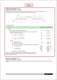 CYPECAD. Criterios de diseño por capacidad a cortante en vigas de hormigón según EHE08