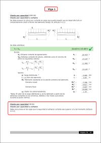 CYPECAD. Criterios de diseño por capacidad a cortante en vigas de hormigón según NCSE