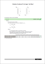 CYPECAD. Minimum flexural strength of columns. Design shear for columns (ACI-318-08)