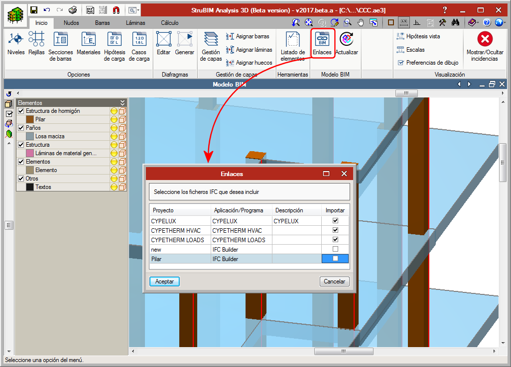 Open BIM workflow in specialised CYPE tools