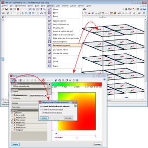 CYPE 3D. Cálculo de esfuerzos en las bandas de integración de láminas