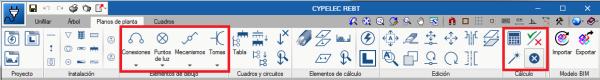 """CYPELEC. Reestructuración de la barra de herramientas de """"Planos de planta"""""""