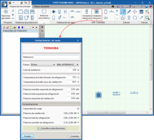 CYPETHERM HVAC. Sistemas de caudal de refrigerante variable VRF de Toshiba