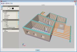 CYPECAD. Vista 3D de la estructura