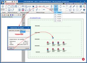 CYPETHERM HVAC. Relación entre esquema de principio y planos de planta para sistemas de VRF