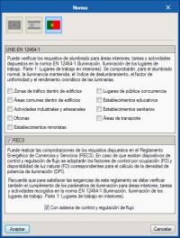 CYPELUX. CTE DB HE 3 y CTE DB SUA 4. Importación de los requisitos lumínicos normativos
