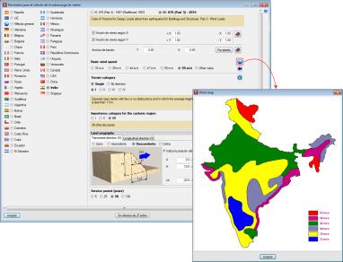 Acciones en las estructuras. Viento. IS: 875 (Part 3) - 2015 (India)