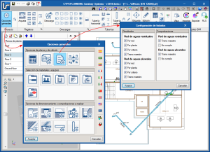 CYPEPLUMBING Sanitary Systems. Configuración de los listados de resultados y comprobaciones