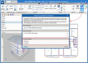 CYPEPLUMBING Water Systems. Exportación de documentación al proyecto BIM