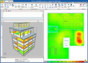 CYPELUX. Diagramas de isovalores en la vista 3D del programa