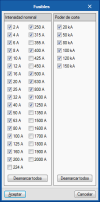 CYPELEC REBT, CYPELEC NF e CYPELEC Core. Ampliação da biblioteca de fusíveis.
