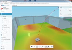 CYPETEL Wireless. Información de los emisores en el visor 3D de BIMserver.center