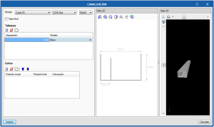 Open BIM Unex. Vista 3D y sección acotada en el panel de edición de cada elemento
