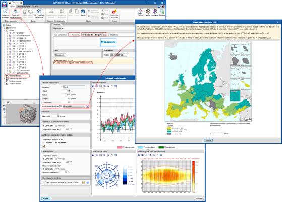 CYPETHERM EPlus y CYPETHERM RECS Plus. Condiciones climáticas para el cálculo del factor SPF de bombas de calor. Mejora del modelo de cálculo de sistemas de ACS de Daikin, coeficiente SCOP (DHW)