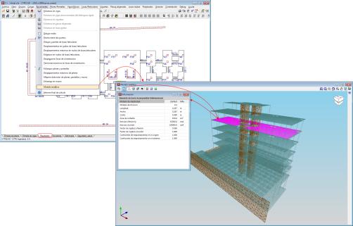 CYPECAD. Vista 3D del modelo analítico