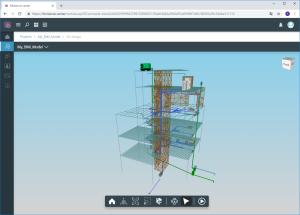 CYPECAD. Vista 3D do modelo analítico. Exportação para o modelo BIM