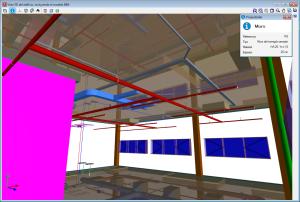 CYPECAD. Vista 3D da estrutura. Informação dos elementos estruturais
