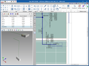 Open BIM TOSHIBA. Generación automática tuberías verticales en la misma planta