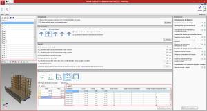 StruBIM Anchors ACI 318. Introducción de esfuerzos de combinaciones de cargas y vista 3D del modelo BIM