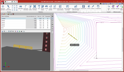 Open BIM Health and Safety. Import the topographic model