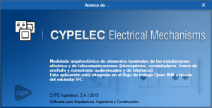 Open BIM Electrical Mechanisms - CYPELEC Electrical Mechanisms. Change of name of the program