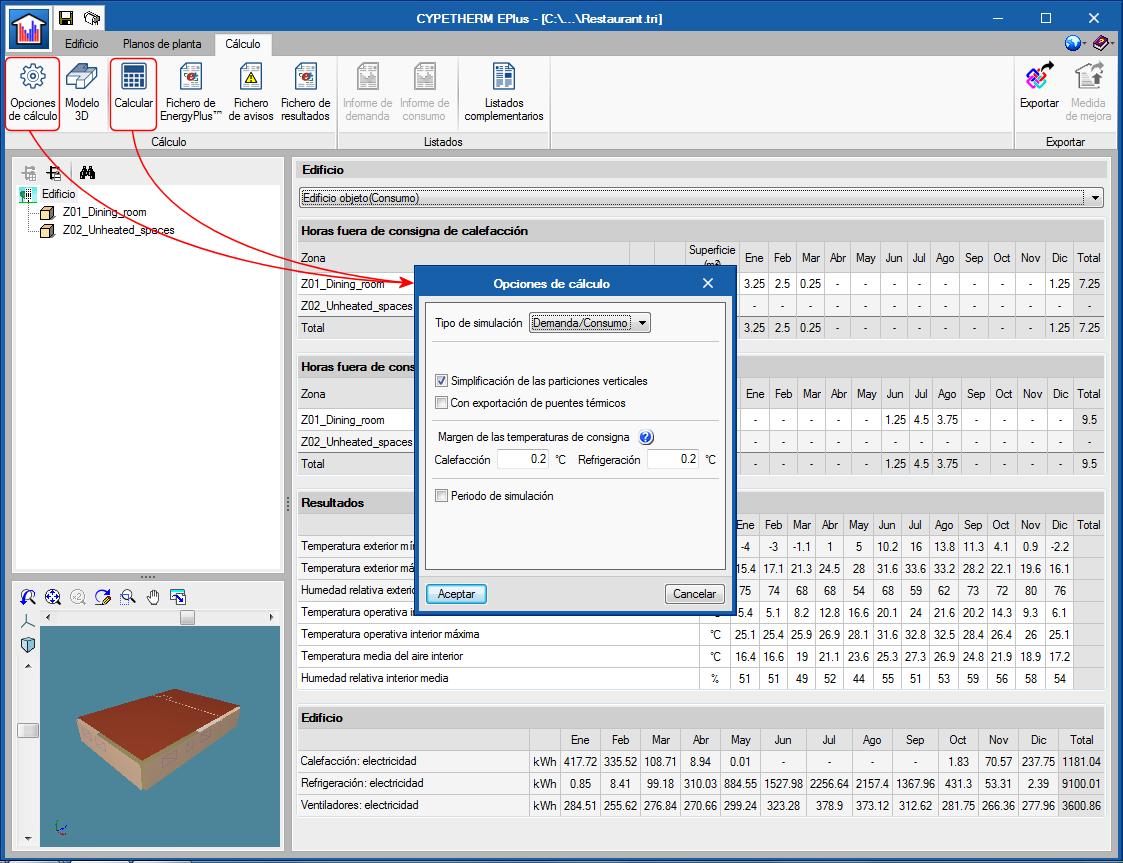 Programas CYPETHERM con motor de cálculo EnergyPlus™ (CYPETHERM EPlus y CYPETHERM RECS Plus)