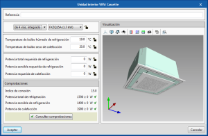 Open BIM DAIKIN. 3D view of equipment in their edit panels