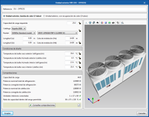 Open BIM TOSHIBA. 3D view of equipment in their edit panels