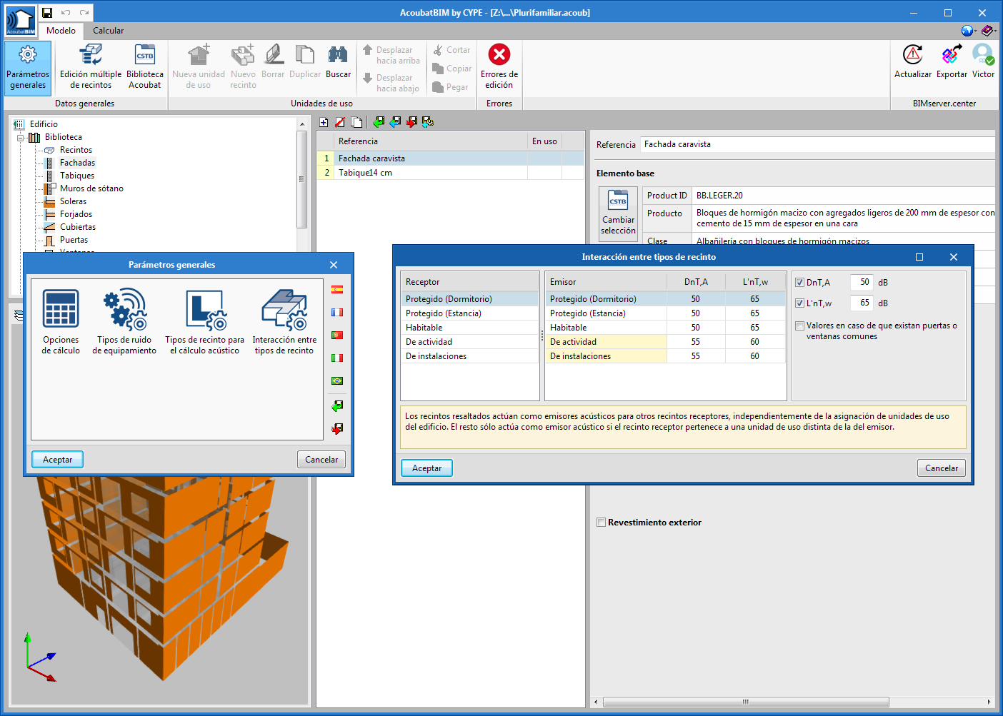 AcoubatBIM by CYPE. Code implementation: CTE DB HR (Spain)