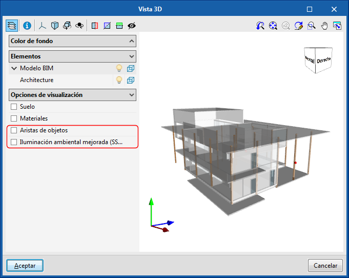 Improvements common to all programs. Object edges and improved ambient lighting in 3D views