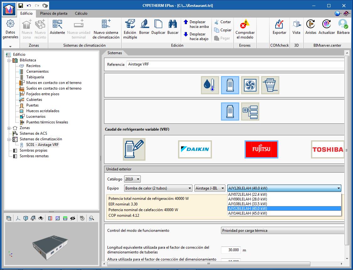 CYPETHERM programs with EnergyPlus™ analysis engine (CYPETHERM EPlus and CYPETHERM RECS Plus)