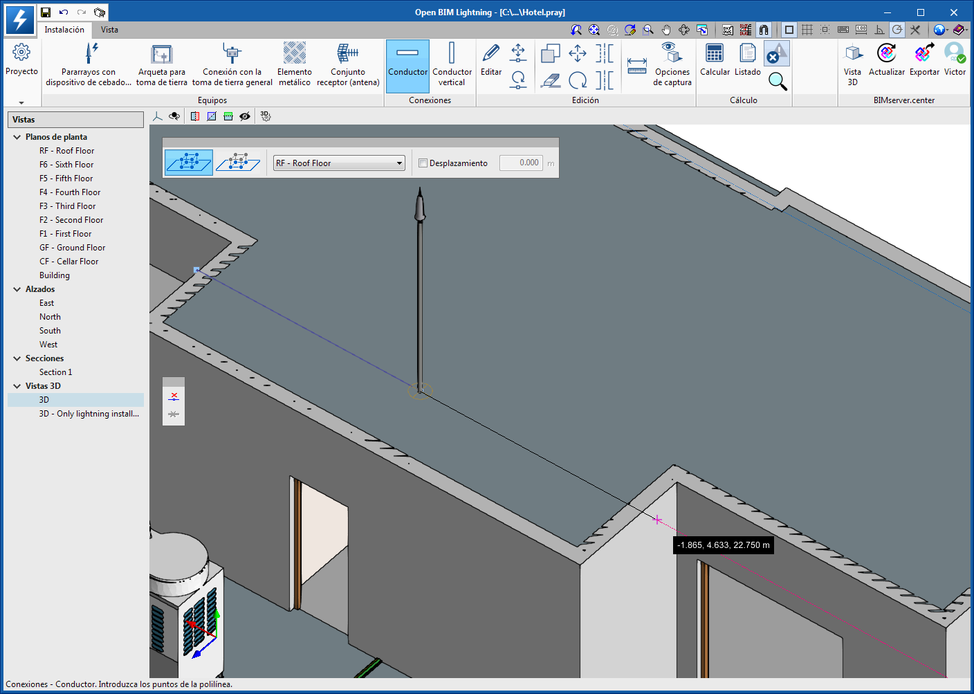 Open BIM Lightning. Improvements in the 3D environment of the application
