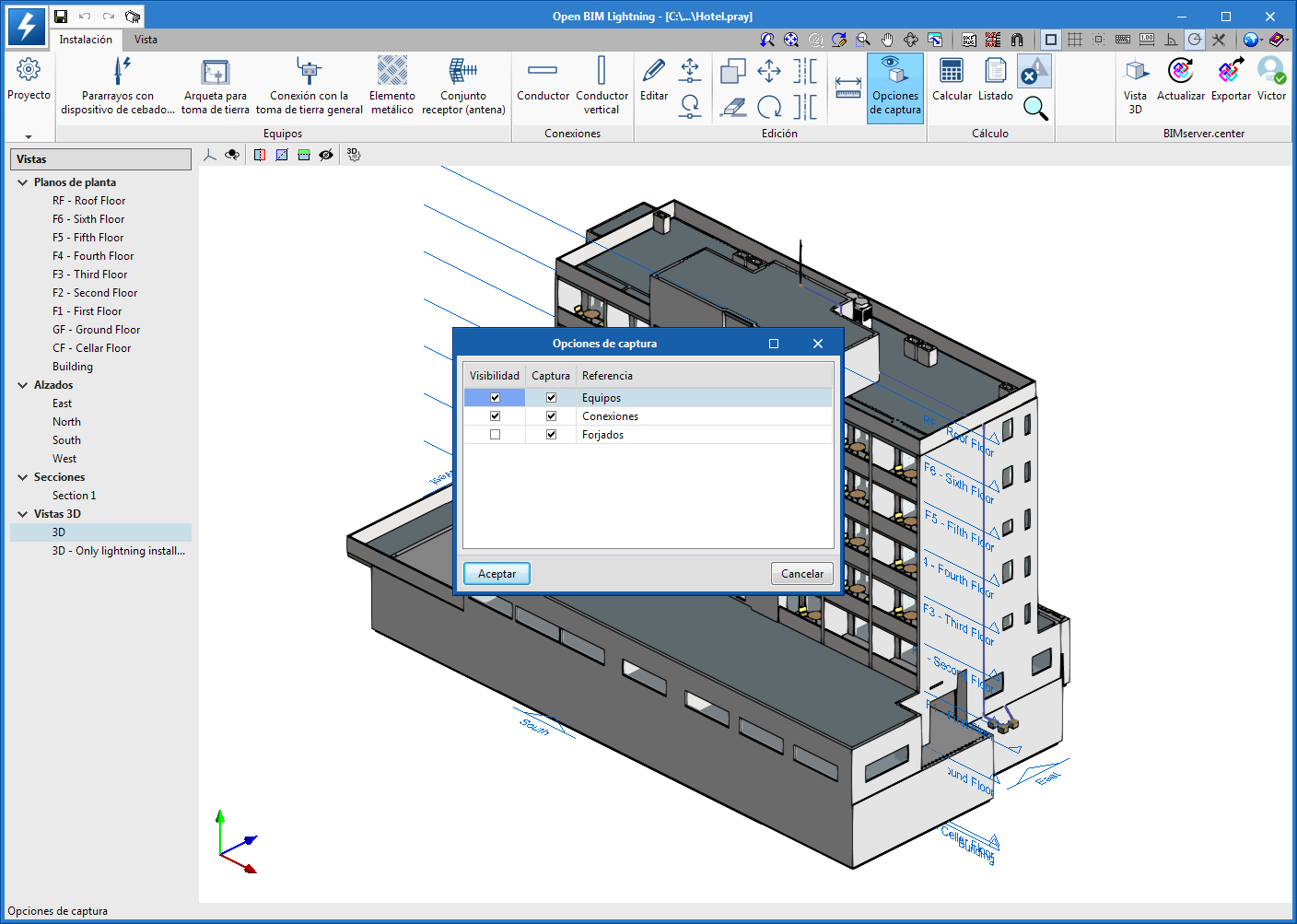 Open BIM Lighting. Improvements in the 3D environment of the application