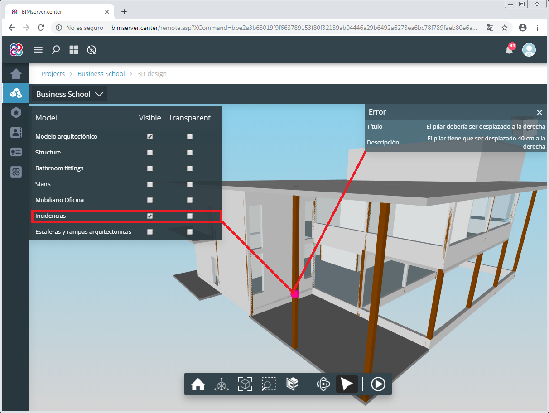 Architectural elements. Open BIM Model Checker