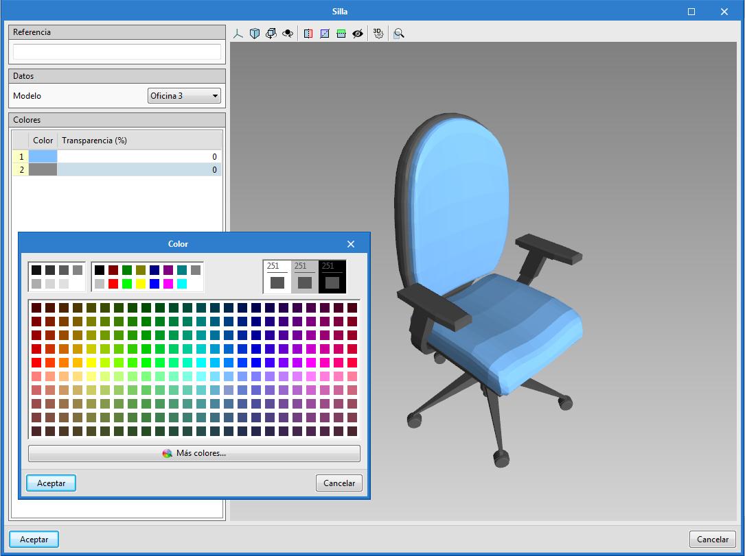 Open BIM Residential Furniture. Nuovo mobilio e modifica multipla dei colori dei mobili