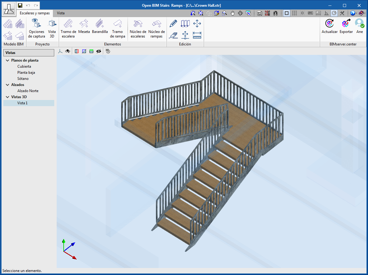 Architectural elements. Open BIM Stairs & Ramps