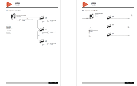 Open BIM FUJITSU. Control diagram and cabling diagram