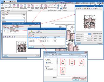 Mejoras comunes. Importación de ficheros PDF como plantillas de dibujo