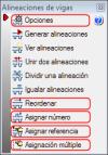 CYPECAD. Opciones para la gestión de referencias de alineaciones de vigas