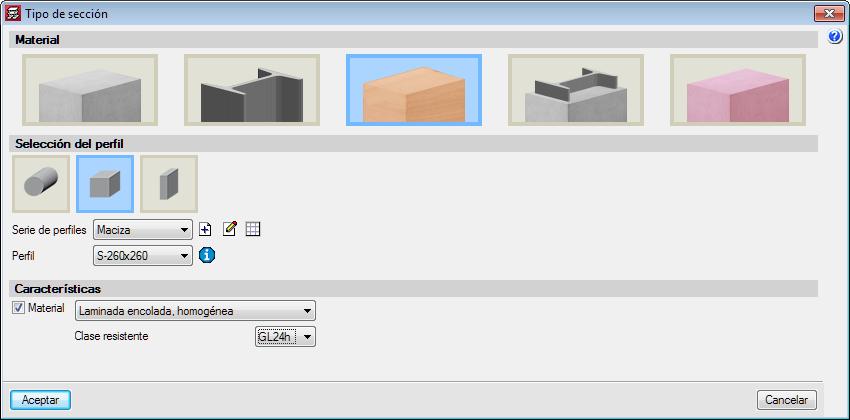 CYPECAD. Timber columns (CYPECAD module)