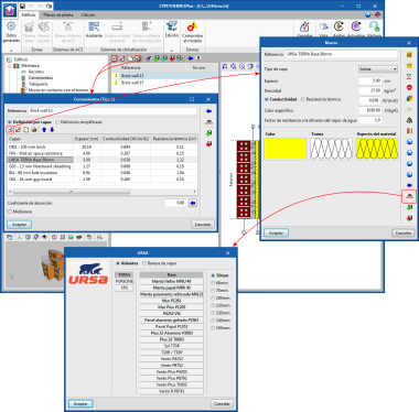 Programas CYPETHERM con motor de cálculo EnergyPlus™ y CYPETHERM LOADS. Materiales y soluciones constructivas de URSA