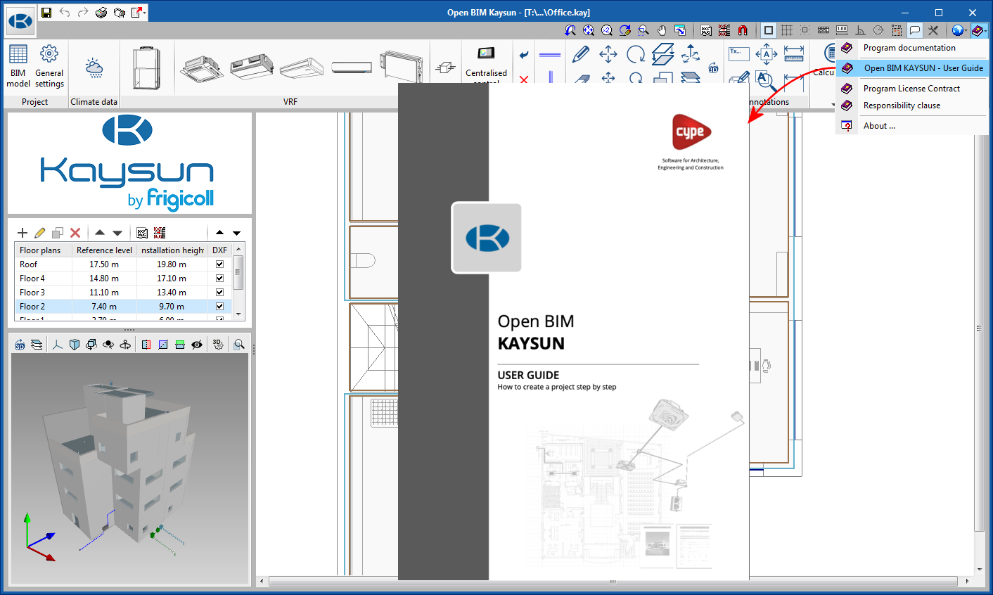 Open BIM KAYSUN. Manual de usuario