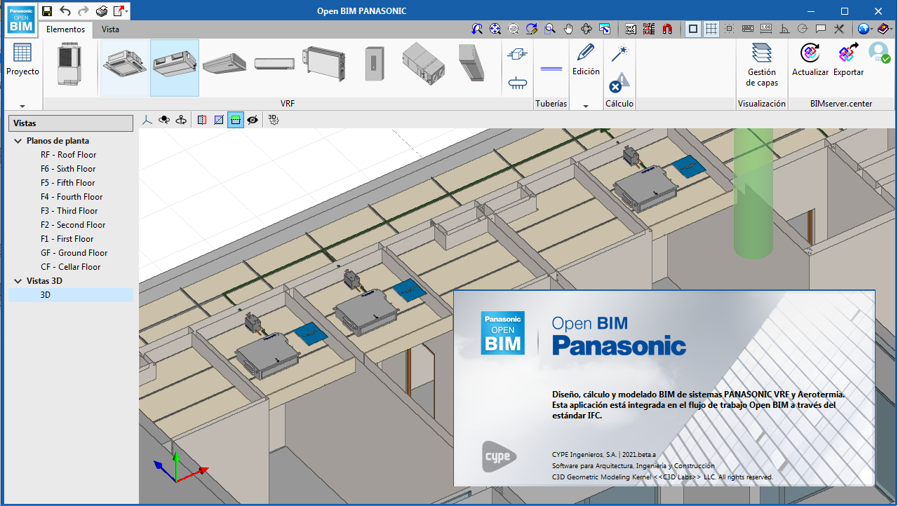 Open BIM PANASONIC. Sistemas de aire acondicionado VRF PANASONIC