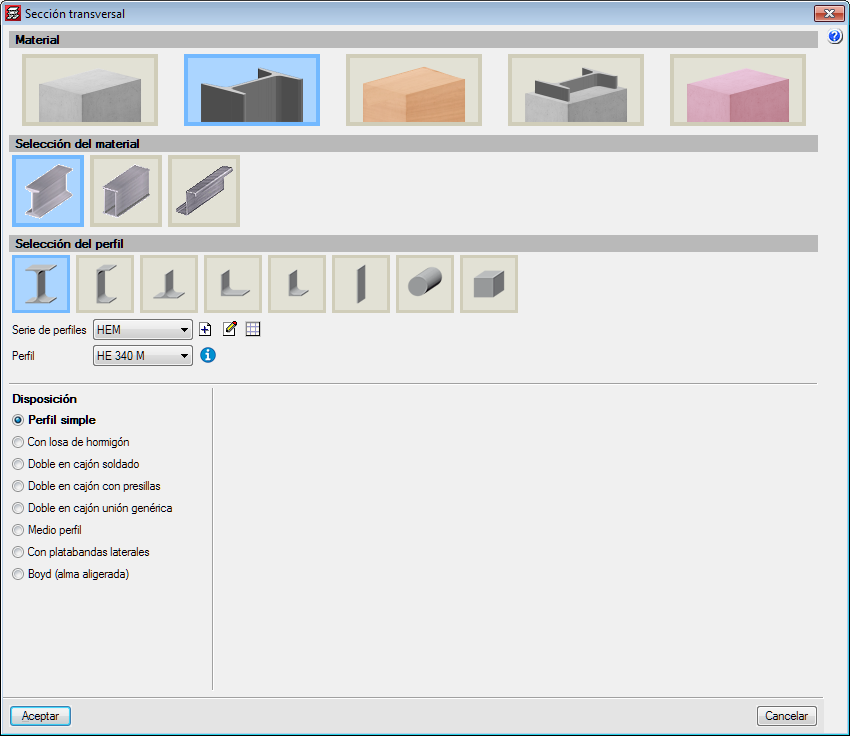 CYPECAD. Import columns with different sections and material types from the BIM model