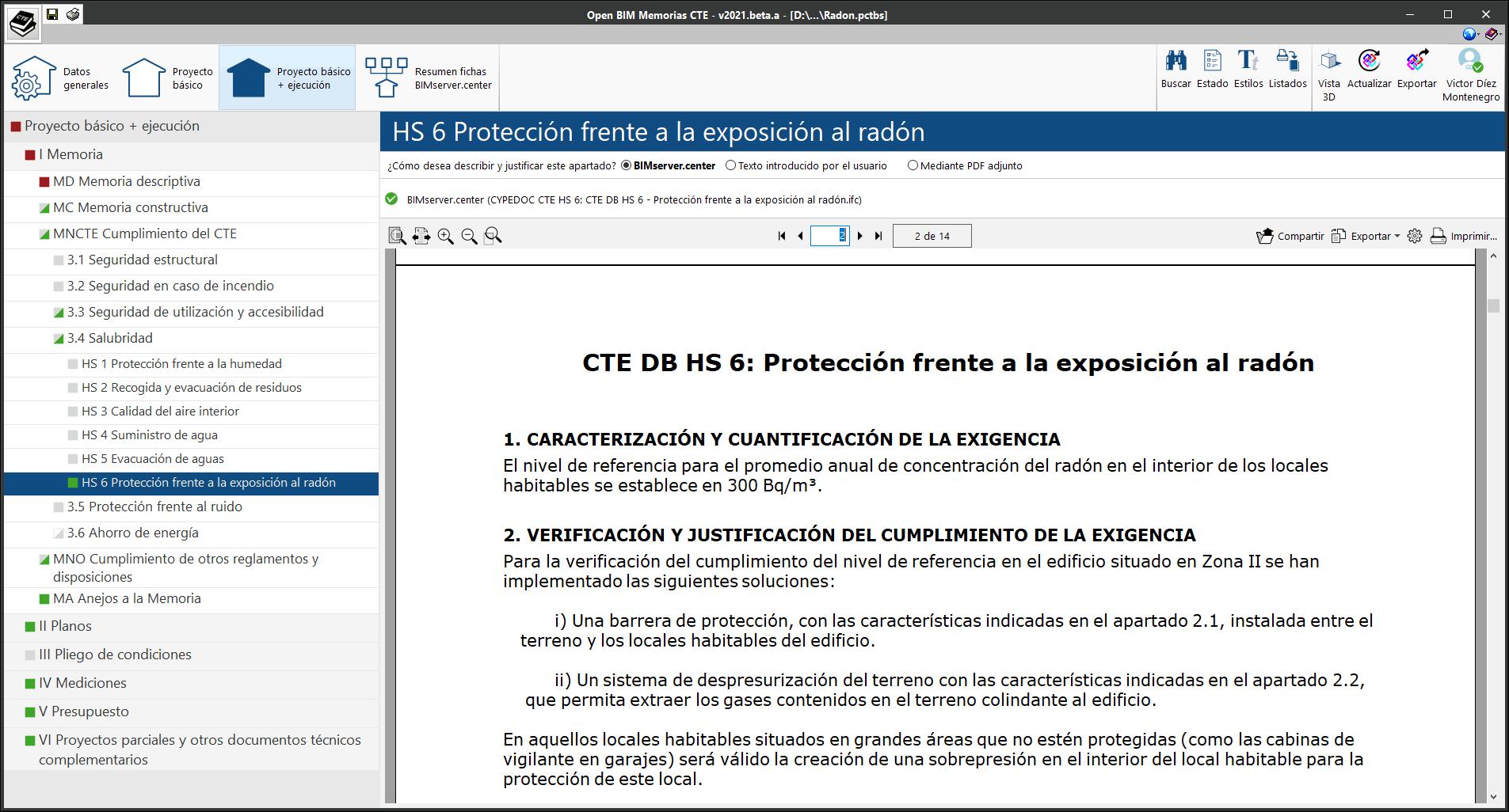 Open BIM Memorias CTE. CTE DB HS