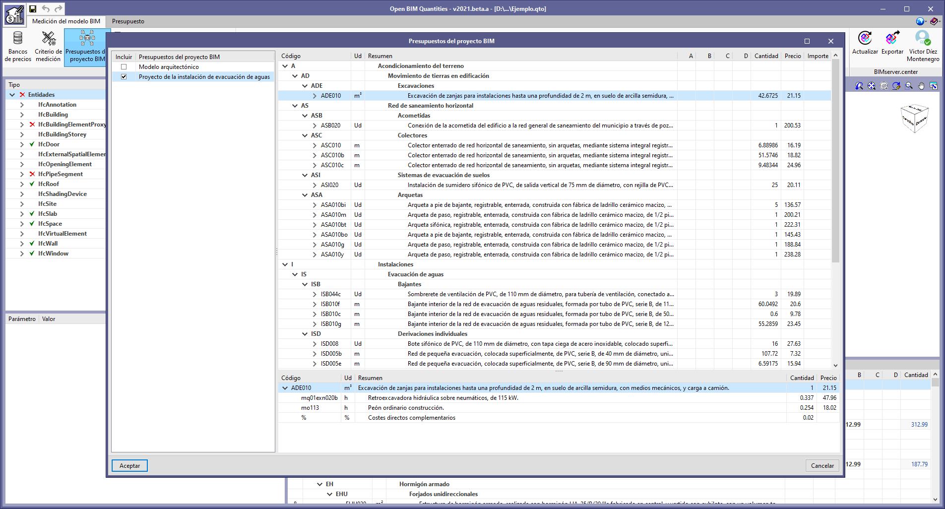 Open BIM Quantities. Lettura dei computi generati dalle applicazioni del progetto