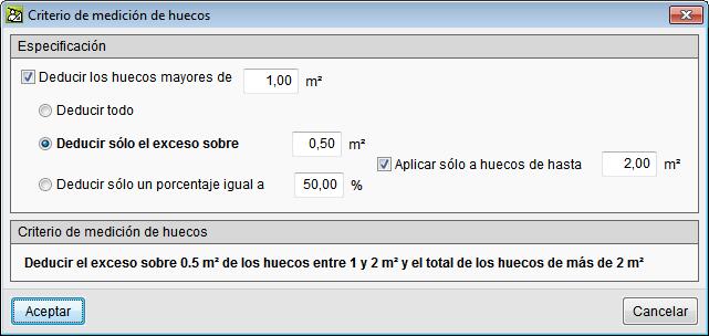 Arquímedes y Control de obra. Presupuesto y medición de modelos de Revit. Criterios de medición en huecos