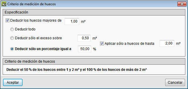 Arquimedes and Job control. Bill of quantities of Revit models. Measurement criteria for openings
