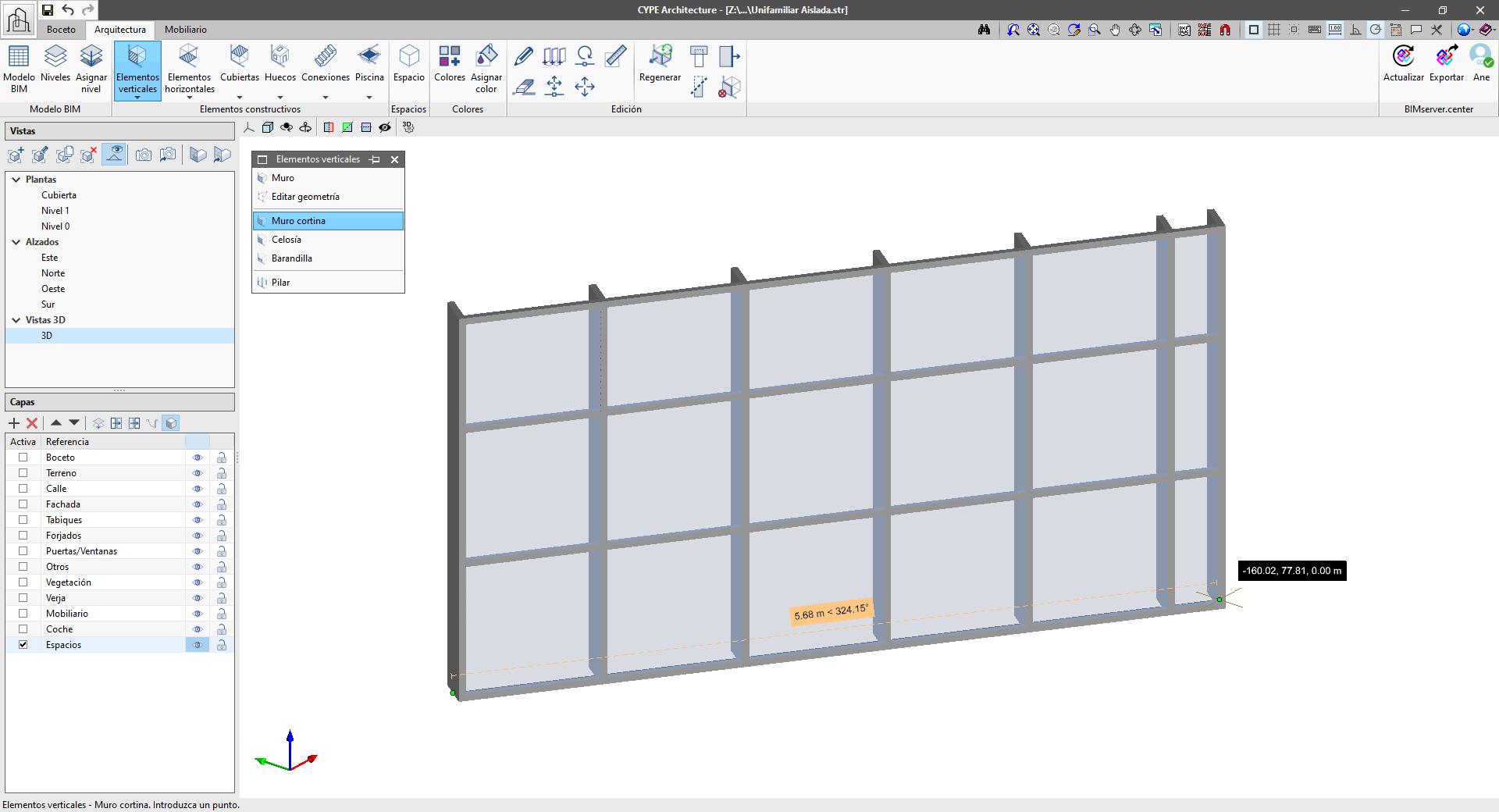 CYPE Architecture. Mejora en la funcionalidad muro cortina