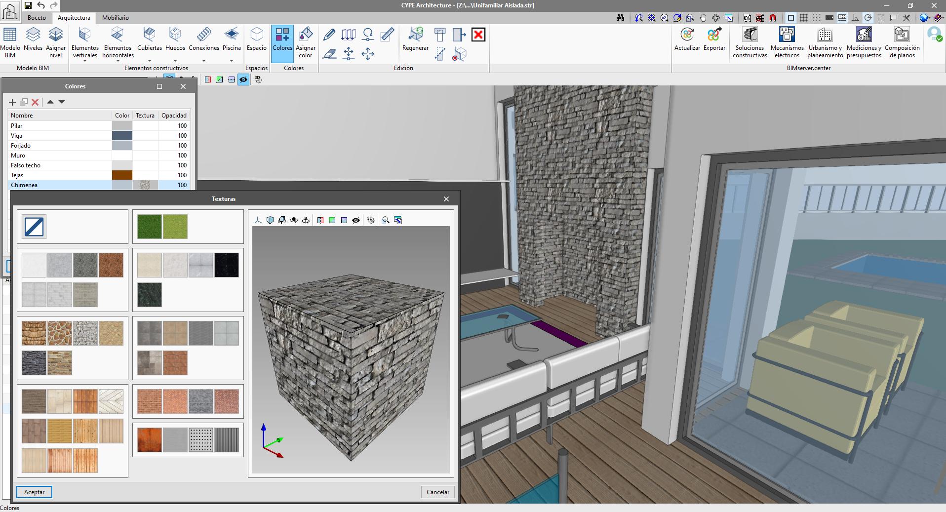 CYPE Architecture. Añadir texturas al modelo de nuestro edificio